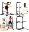 Power Tower Pull Up Dip Station Home Gym Strength Training Workout Equipment New