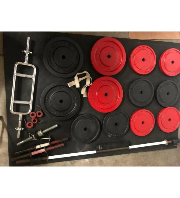 Jones Barbell - Baker Manufacturing - Free Weights 4 ea. 50 lb. - 8ea. 25 lb.
