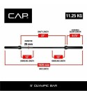CAP Barbell Olympic Weight Bar 5 FT Black