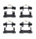 ATIVAFIT Adjustable Dumbbell for Workout Strength Training Fitness Weight Gym (S