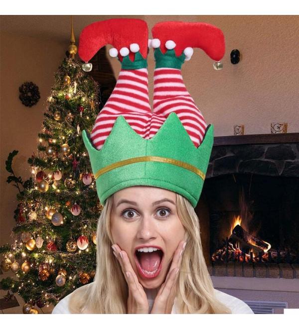 Christmas  ny Santa Claus Elf Party Hat - Green