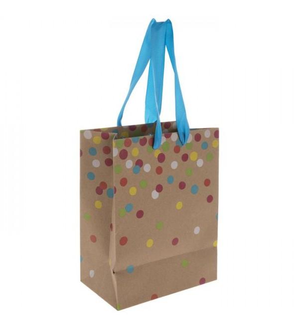 Confetti Kraft Gift Bag   Small